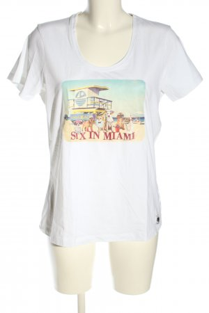 Frieda & Freddies New York Print-Shirt weiß Motivdruck Casual-Look
