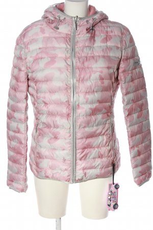 Frieda & Freddies New York Steppjacke pink-weiß Allover-Druck Casual-Look