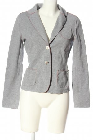 Frieda & Freddies New York Strickblazer hellgrau meliert Casual-Look