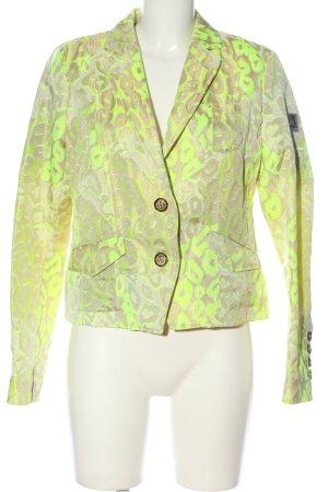 Frieda & Freddies New York Knitted Blazer primrose-gold-colored allover print