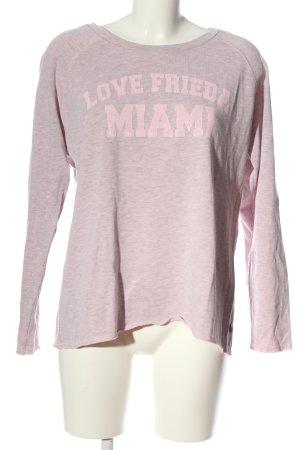 Frieda & Freddies New York Sweat Shirt pink flecked casual look
