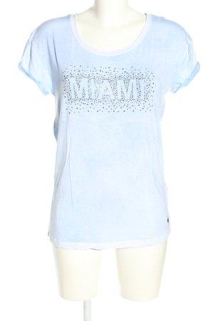 Frieda & Freddies New York T-Shirt blau meliert Casual-Look