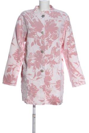 Frieda & Freddies New York Between-Seasons-Coat white-pink flower pattern