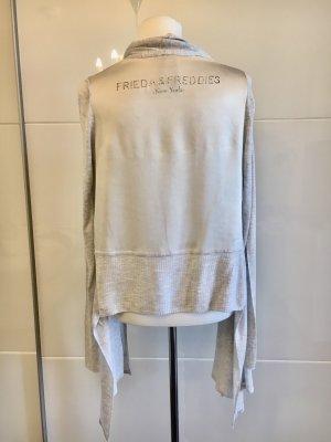 Frieda & Freddies New York Cárdigan de punto fino color plata-gris claro