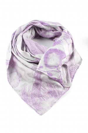 Friendly Hunting Neckerchief light grey-lilac allover print casual look