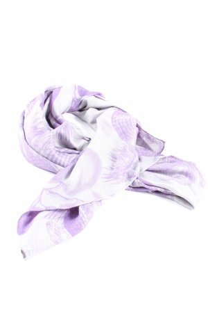Friendly Hunting Seidenschal lila-weiß abstraktes Muster Casual-Look
