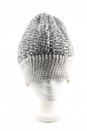 Friendly Hunting Strickmütze hellgrau-silberfarben Casual-Look