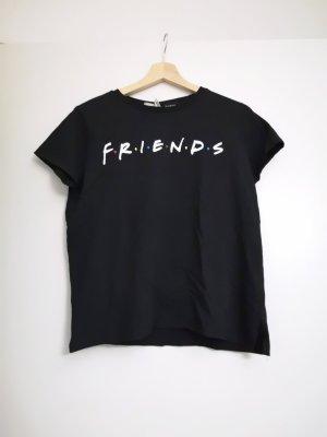 H&M T-shirt imprimé noir