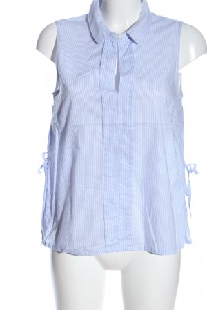 Friendtex ärmellose Bluse blau-weiß Streifenmuster Casual-Look