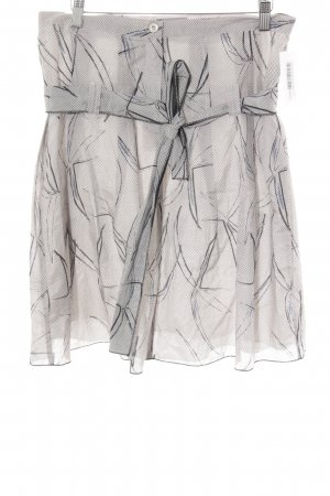 Friendtex Glockenrock altrosa-schwarz abstraktes Muster Casual-Look