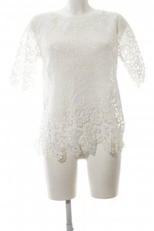 Friendtex Gehaakt shirt wit casual uitstraling