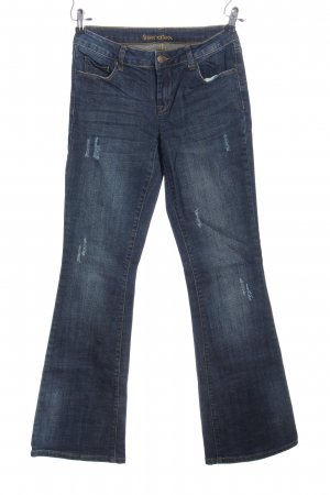 Friendtex Jeansschlaghose blau Casual-Look