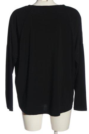 Friendtex Langarm-Bluse schwarz Casual-Look