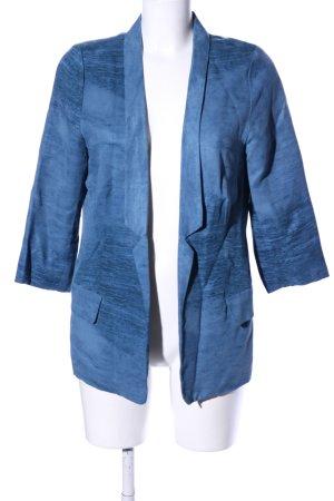 Friendtex Long-Blazer blau meliert Casual-Look