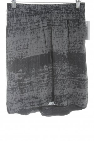 Friendtex Minirock dunkelblau-blassblau abstraktes Muster Casual-Look