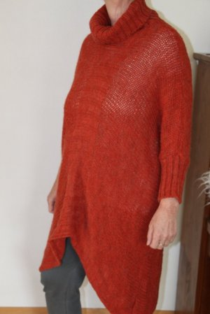 Friendtex Knitted Poncho russet