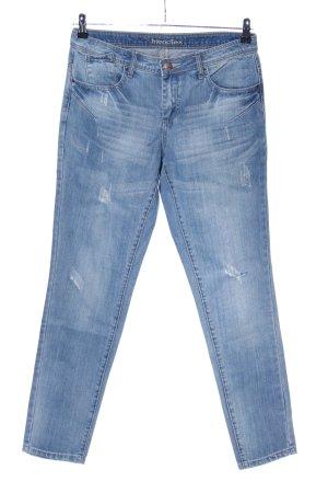 Friendtex Slim Jeans blau Casual-Look