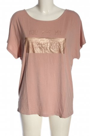 Friendtex T-Shirt nude printed lettering casual look