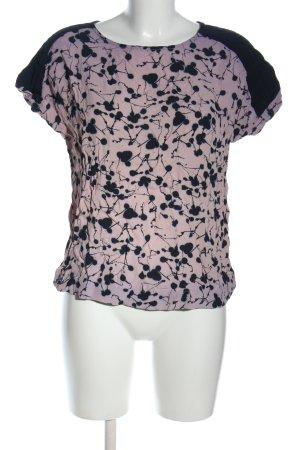 Friendtex T-Shirt pink-blau Allover-Druck Casual-Look