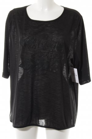 Friendtex T-Shirt schwarz Casual-Look