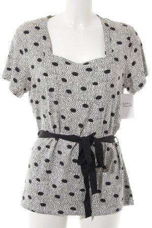 Friendtex T-Shirt schwarz-weiß Punktemuster Casual-Look