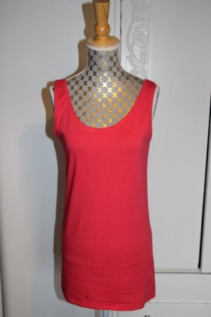 Friendtex Long Top raspberry-red cotton