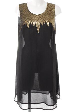 Friendtex Trägerkleid schwarz-goldfarben Elegant