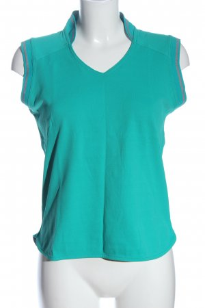 Friendtex V-Neck Shirt turquoise casual look