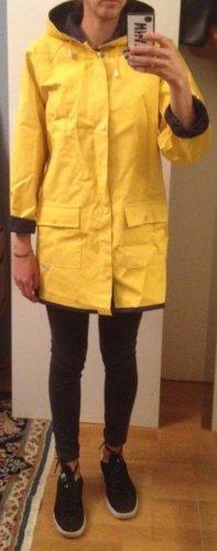 Płaszcz przeciwdeszczowy ciemnoniebieski-żółty