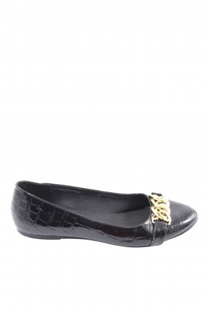 Friis & Company Foldable Ballet Flats black-gold-colored casual look