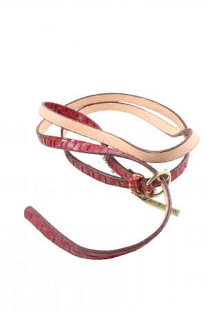 Friis & Company Braided Belt red-gold-colored casual look