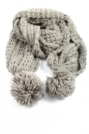 Friis & Company Crochet Scarf light grey casual look
