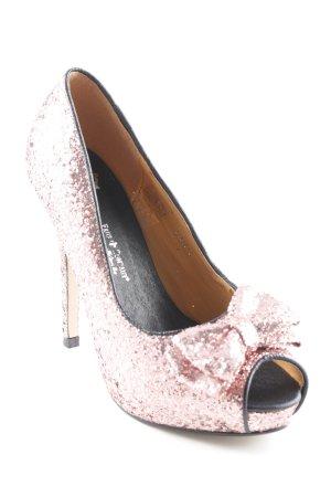 Friis & Company High Heels roségoldfarben extravaganter Stil