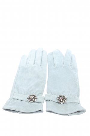 Friis & Company Leather Gloves light grey casual look