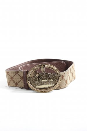 Friis & Company Faux Leather Belt brown-natural white allover print casual look