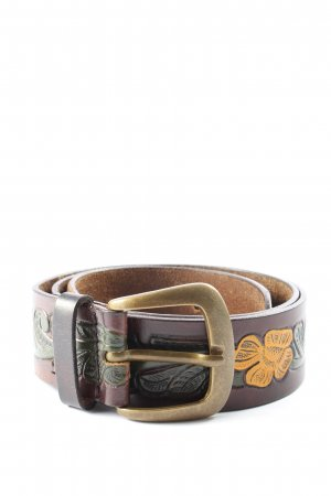 Friis & Company Faux Leather Belt graphic pattern casual look