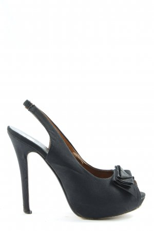 Friis & Company Peeptoe Pumps schwarz Elegant