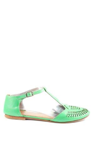 Friis & Company Ballerina's met bandjes groen casual uitstraling