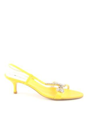 Friis & Company Riemchen-Sandaletten blassgelb extravaganter Stil