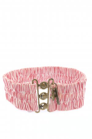 Friis & Company Fabric Belt pink-white striped pattern casual look