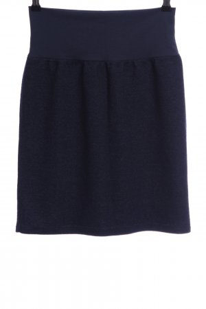 Minirock blau-schwarz meliert Casual-Look