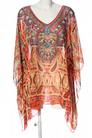 Frime Poncho Allover-Druck Casual-Look
