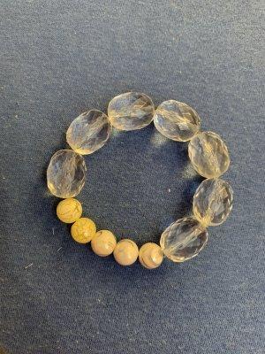 Handmade Bransoletki z perłami jasnoszary-w kolorze białej wełny