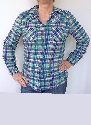 frische Bluse in blau und grün Tönen, Größe 40