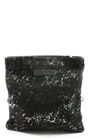 Fritzi aus preußen Clutch schwarz-hellgrau abstraktes Muster Casual-Look
