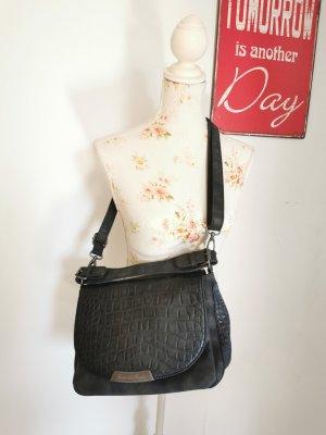 Fritzi aus Preußen Damen Handtasche Leder Tasche anthrazit