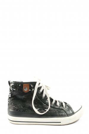 Fritzi aus preußen High Top Sneaker schwarz Motivdruck Casual-Look