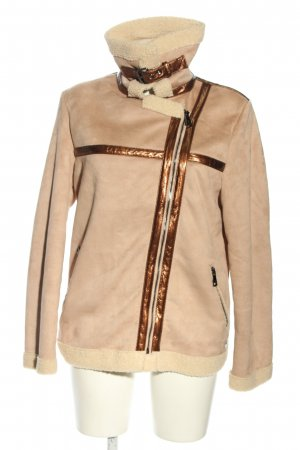 Fritzi aus preußen Faux Leather Jacket cream-bronze-colored casual look