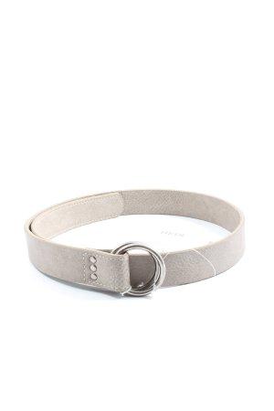 Fritzi aus preußen Cinturón de cuero de imitación gris claro look casual