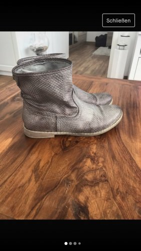 Fritzi aus preußen Slip-on Booties silver-colored